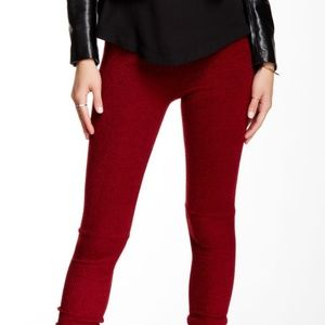 NWT Cranberry heathered leggings
